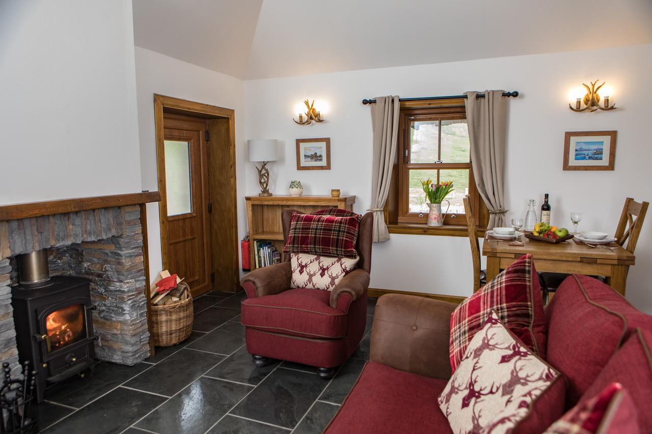 Beinn Dearg Cottage Open Living Area