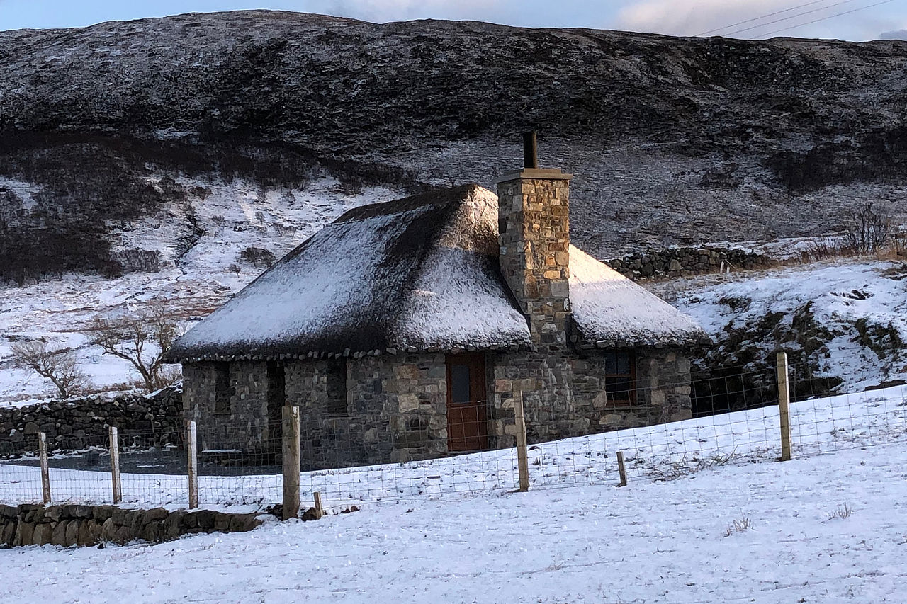Winter time at Beinn Dearg Cottage